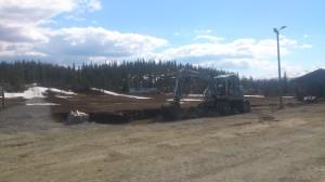 Utgraving av tomta til Gravsetstugu har starta.