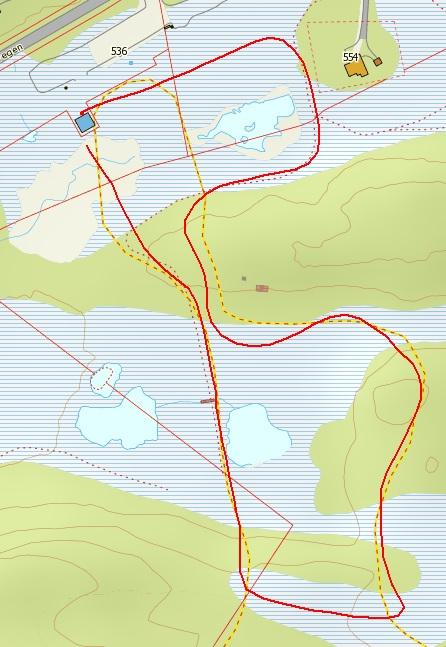 Kart Gravset 0,75KM