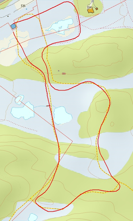 Kart Gravset 1KM