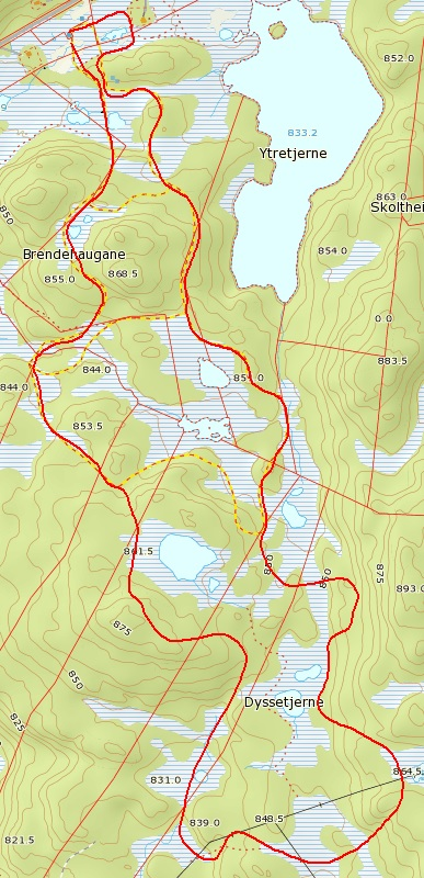 Kart Gravset 5KM